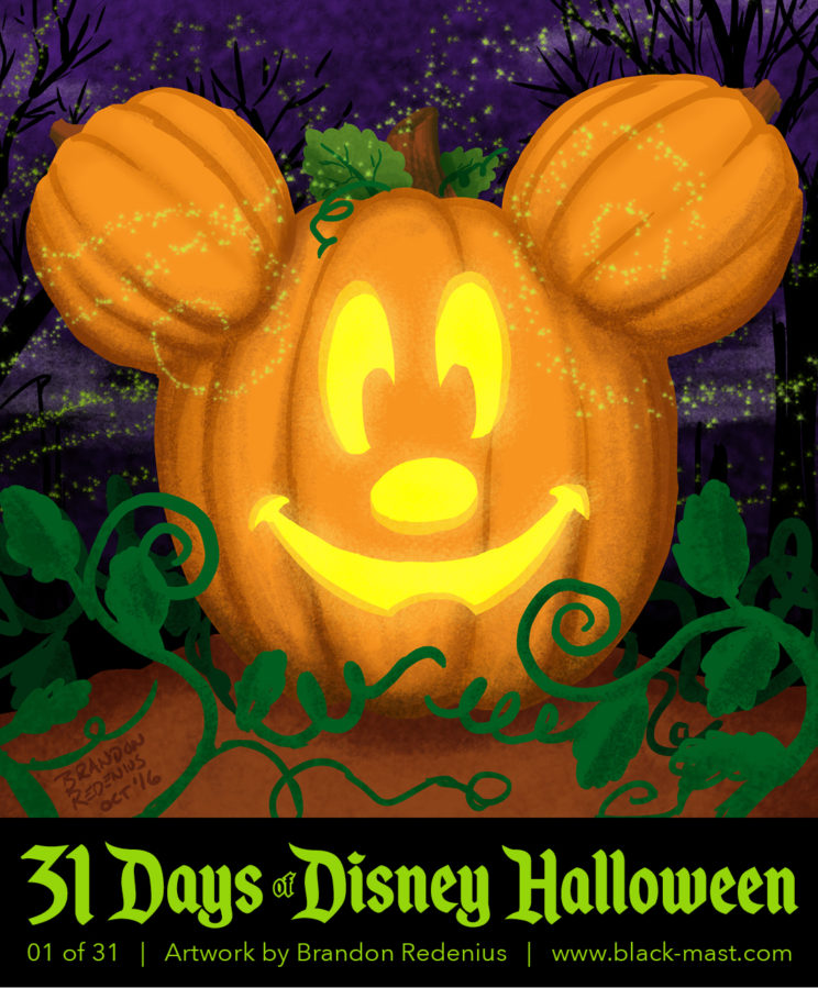 Day 1: Mickey Mouse jack-o-lantern from Disneyland during Halloween Time