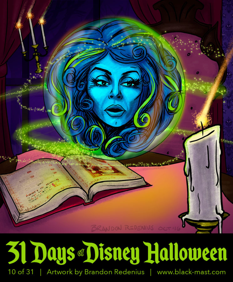 Day 10: Madame Leota from The Haunted Mansion
