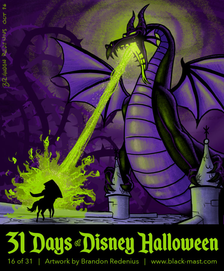 Day 16: Maleficent in dragon form from Disney's Sleeping Beauty