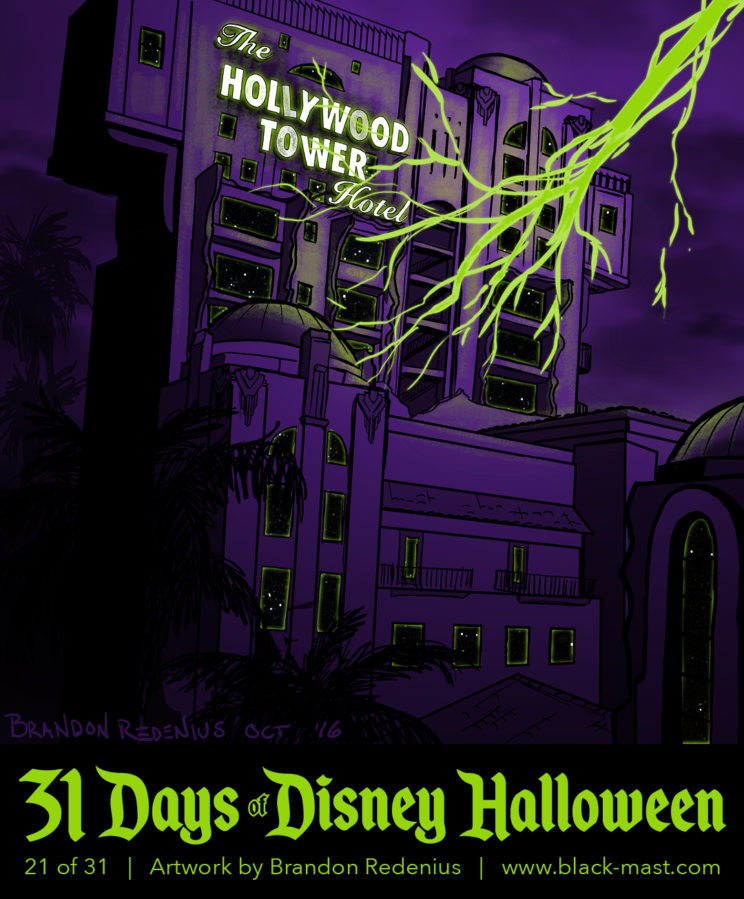 Day 21: Disney's California Adventure version of Twilight Zone Tower of Terror