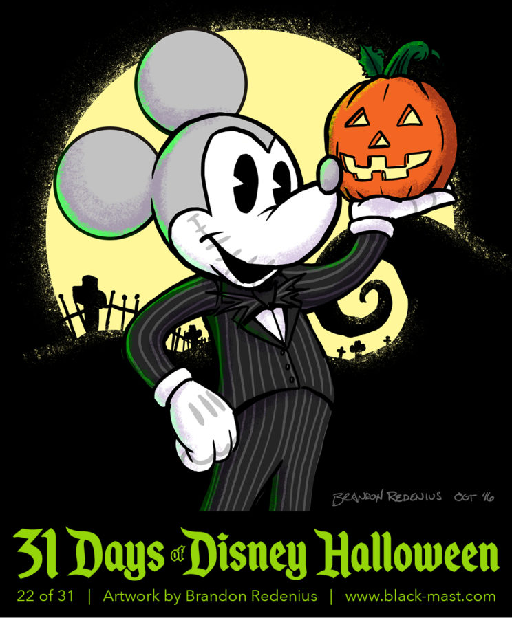 Day 22: Mickey Mouse as Jack Skellington