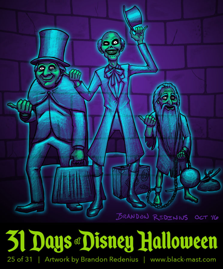 Day 25: Hitchhiking Ghosts from the Haunted Mansion
