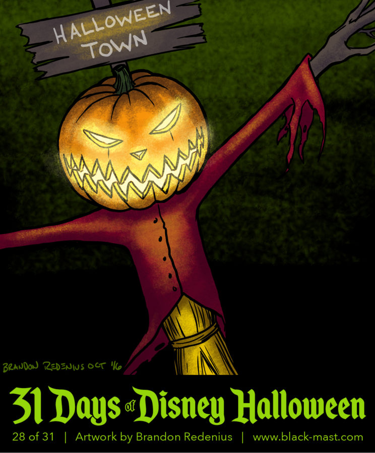 Day 28: Jack Skellington as Halloween Town Scarecrow