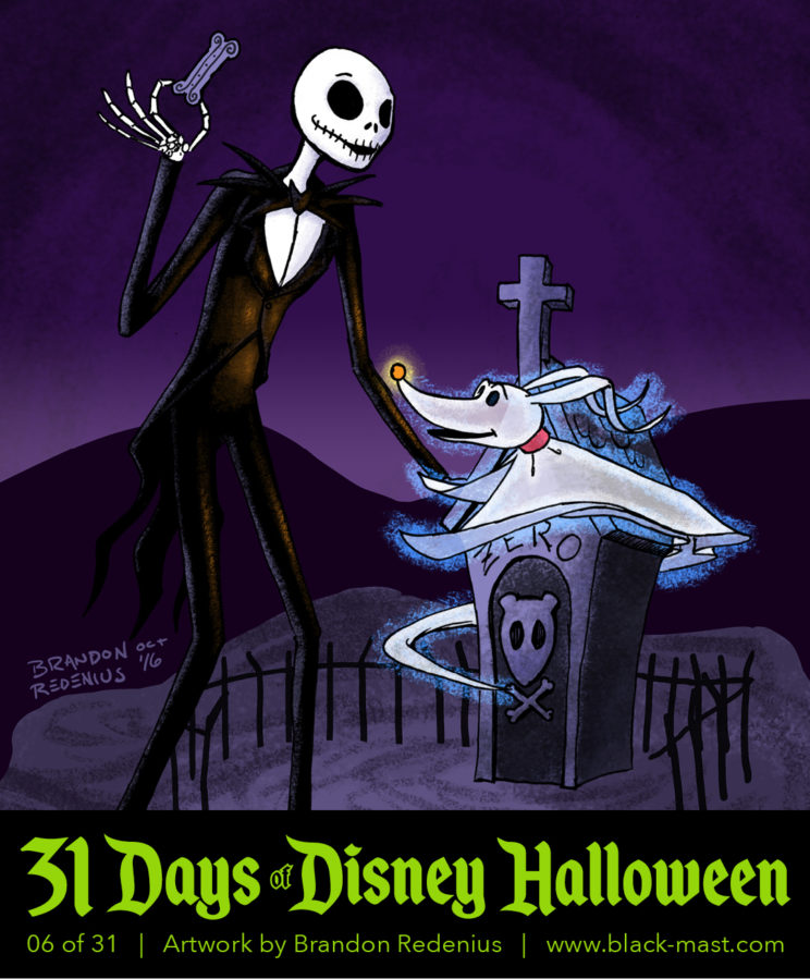 Day 6: Jack Skellington and Zero from The Nightmare Before Christmas