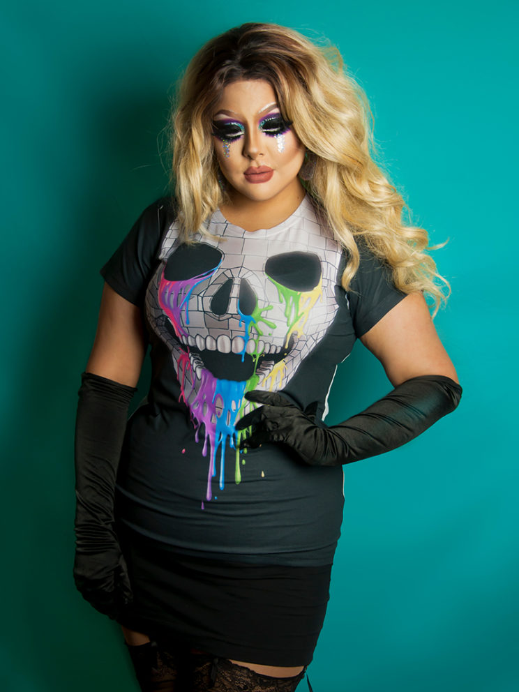 Disco Skull Tee (Model: Creme Fatale)
