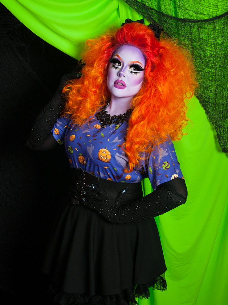 Trick or Treat Tee (Model: Creme Fatale)