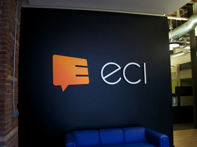 ECI: Sign installation after rebranding.