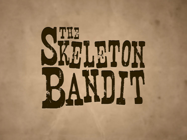 Skeleton Bandit: Logo for unfinished illustrated story.