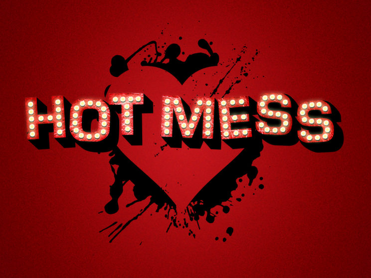 Hot Mess: Logo for Chico, CA indie band's first album.