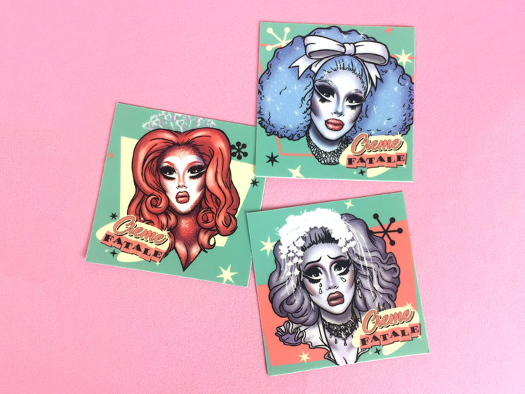 Creme Fatale Stickers
