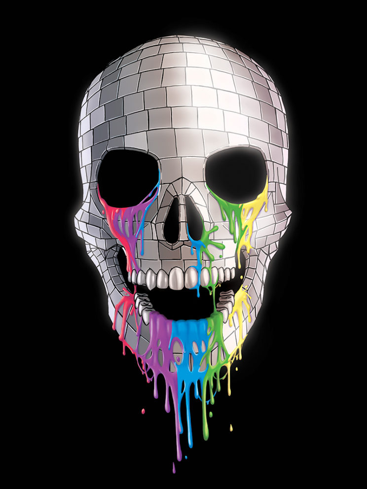 Disco Skull T-shirt Art
