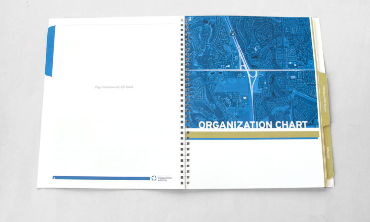 HNTB Graphic Design and Editorial Design - Organization Chart Tab