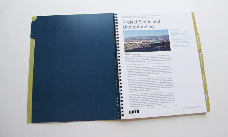 HNTB Graphic Design and Editorial Design - Project Scope Layout