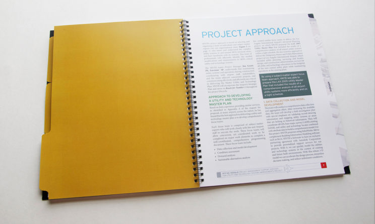 HNTB Graphic Design and Editorial Design - Project Approach Layout