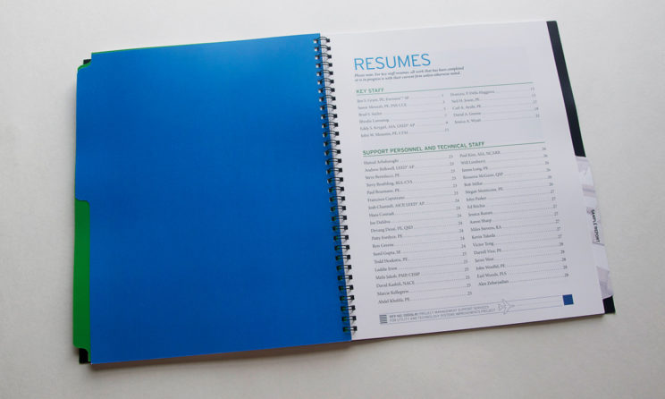 HNTB Graphic Design and Editorial Design - Resumes Table of Contents