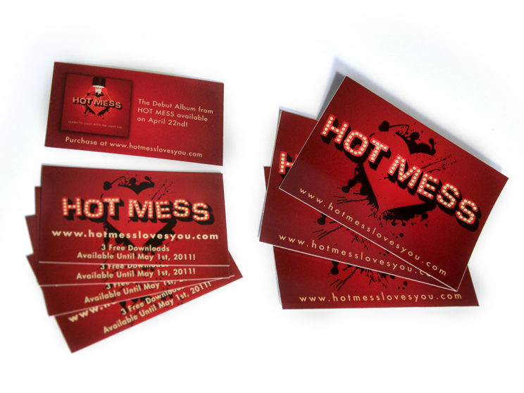 Hot Mess Digital Download Cards and Stickers