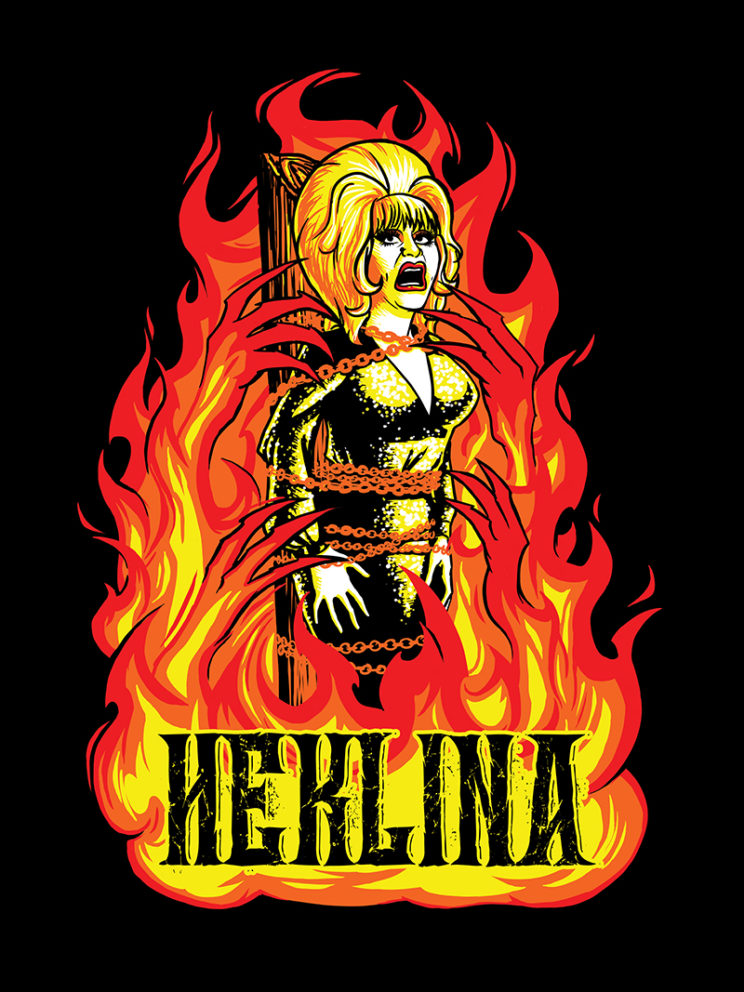 Roast of Heklina Tee Artwork (Jan 2018)