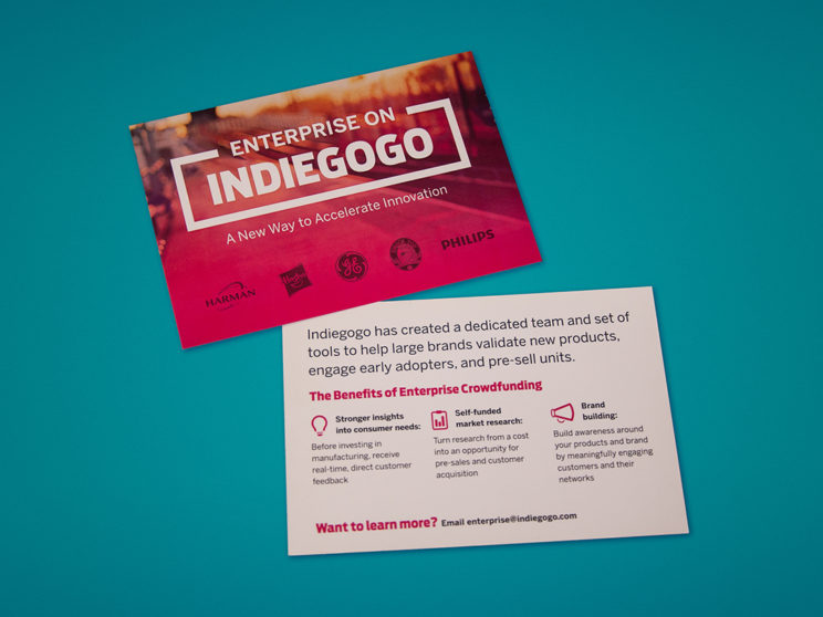 CES 2017 Indiegogo Enterprise Value Prop Postcards