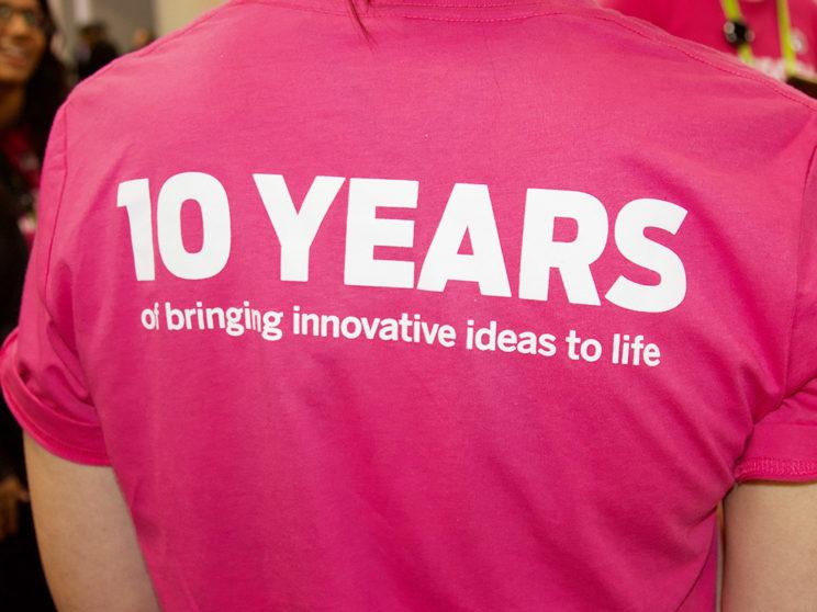 Indiegogo CES 2018 10 Year Anniversary Shirts