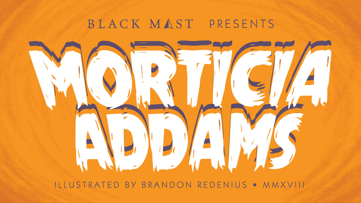 Morticia Addams Title Card