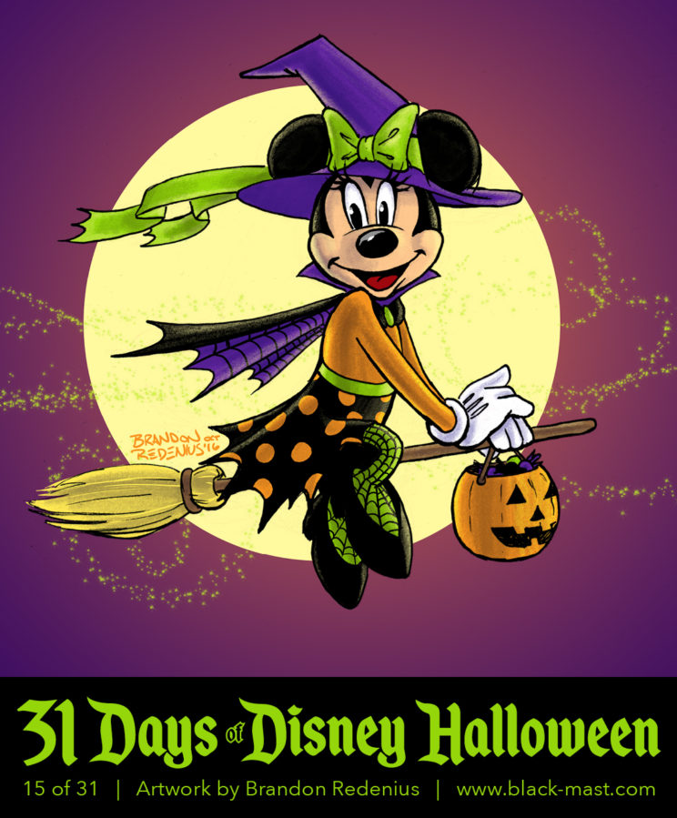 Day 15: Minnie Mouse in a witch costume