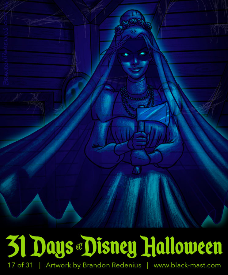 Day 17: Black Widow Bride (aka Constance) from The Haunted Mansion