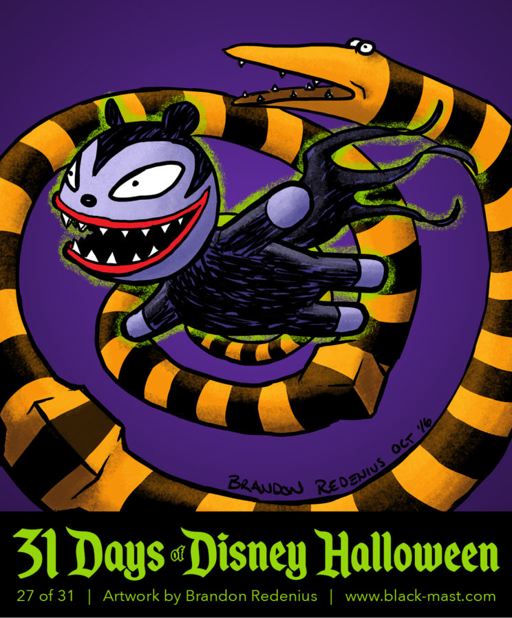 Day 27: Vampire Teddy and Present Snake from The Nightmare Before Christmas
