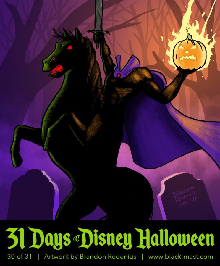 Day 30: The Headless Horseman from Disney's The Adventures of Ichabod and Mr. Toad