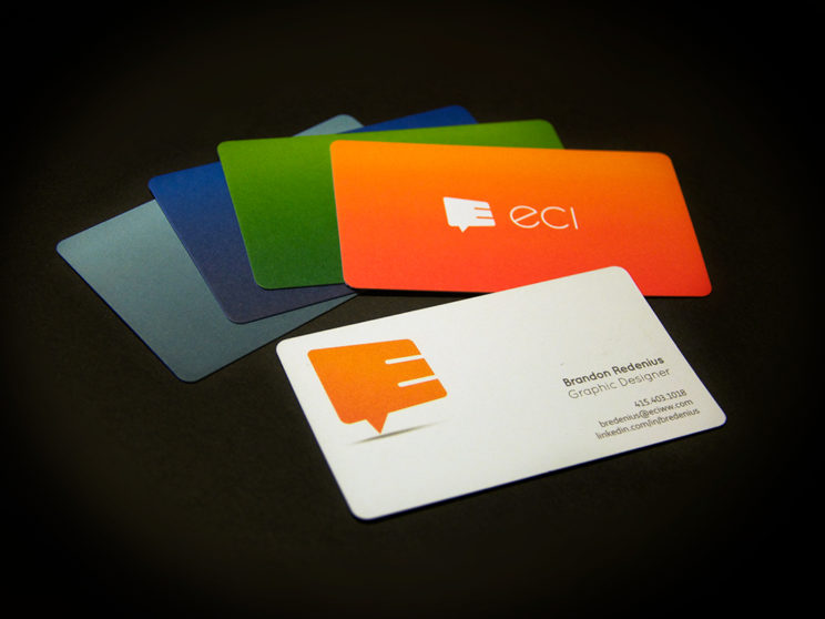 ECI: Rebranded business cards.