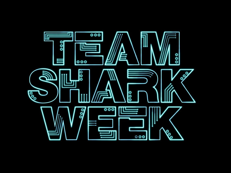 Team Shark Week: Logo for Chico, CA based electronic rock band.