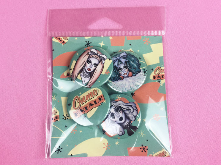 Creme Fatale Button Pack