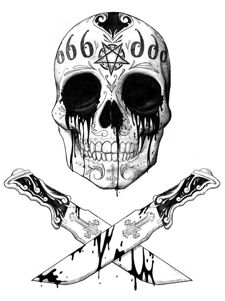 Dia De Los Diablos T-shirt Art