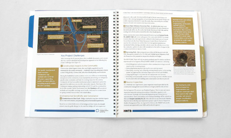 HNTB Graphic Design and Editorial Design - Project Issues Map in Layout