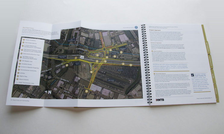 HNTB Graphic Design and Editorial Design - Issues Map and Project Scope Layout