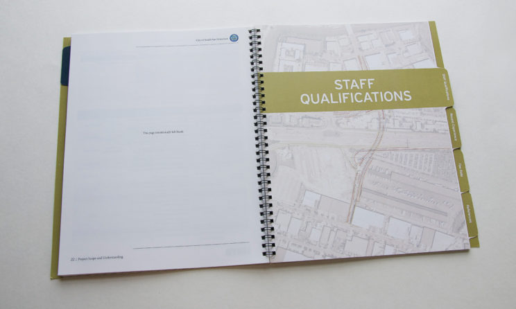 HNTB Graphic Design and Editorial Design - Staff Qualifications Tab