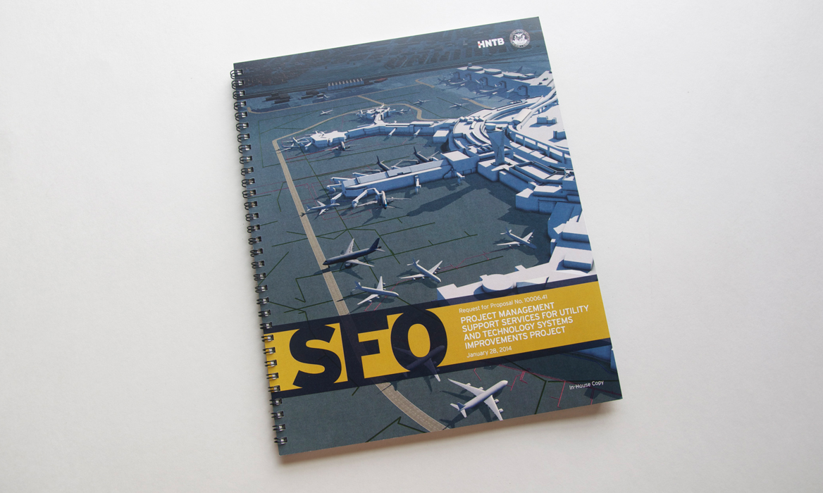 HNTB Graphic Design and Editorial Design - SFO Cover