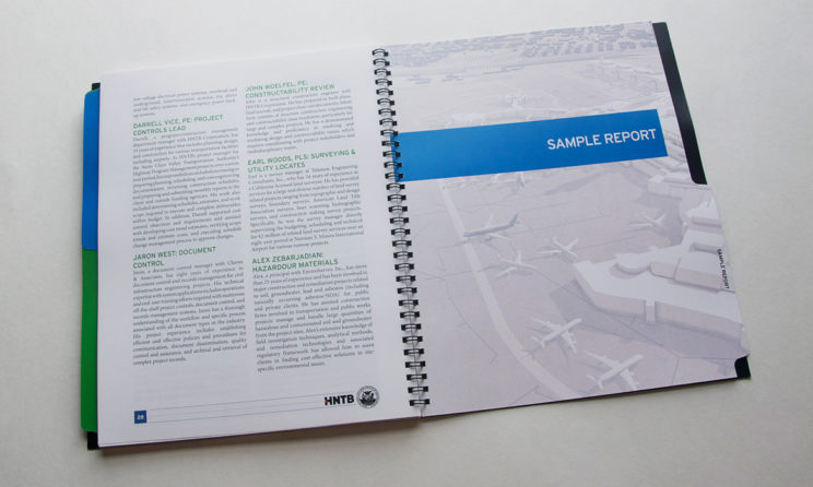 HNTB Graphic Design and Editorial Design - Sample Report