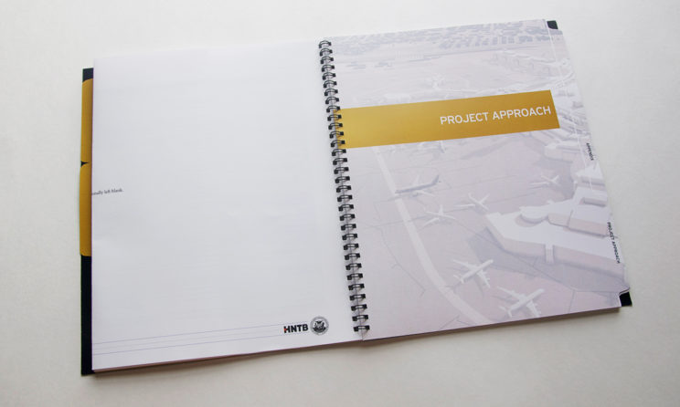 HNTB Graphic Design and Editorial Design - Project Approach Tab