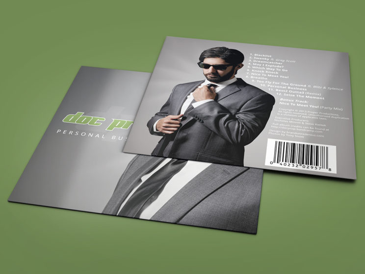 "Doc Prop ""Personal Business"" Album Packaging"