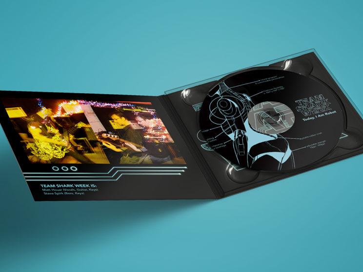 """Team Shark Week """"Today, I Am Robot"""" Album Packaging"""