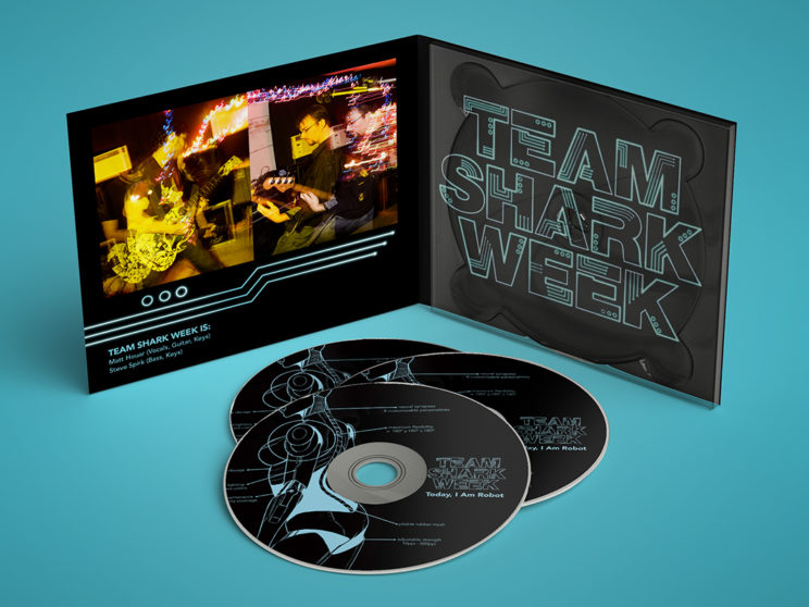 "Team Shark Week ""Today, I Am Robot"" Album Packaging"