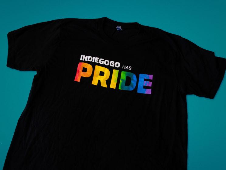Indiegogo 2016 Pride Celebration T-Shirt