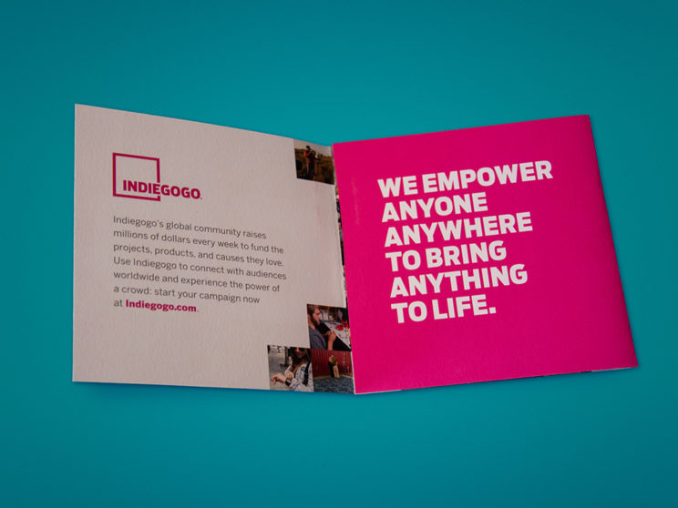 Indiegogo Success Story Sales Brochure (2015)
