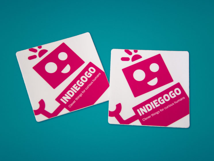 Indiegogo Marketplace Launch Stickers (Illustration by Meredith Lyon)