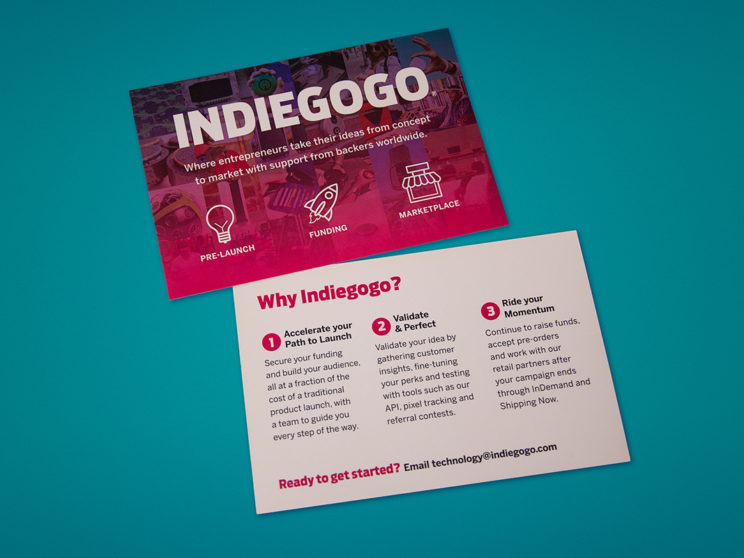 CES 2017 Indiegogo Product Lifecycle Postcards