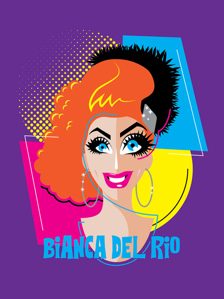 Bianca Del Rio Abstract T-shirt Design