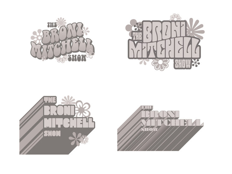 Broni Mitchell Logo Process Work