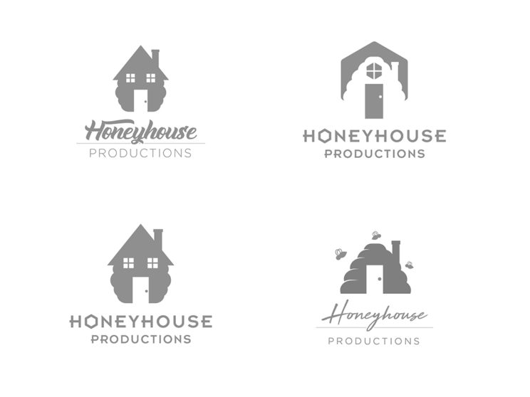 Honeyhouse Productions Logo Process Work
