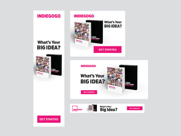 Indiegogo Lead Generation Content Marketing Ads