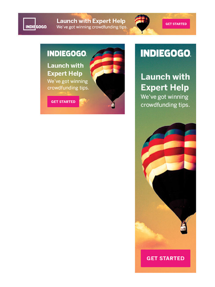 Indiegogo Marketing Ads